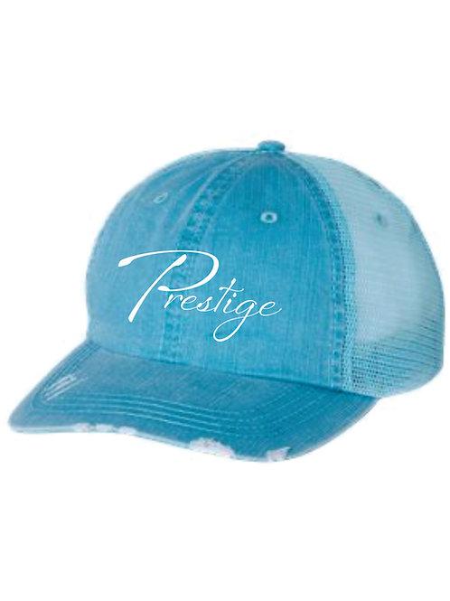 TEAL OR PINK Distressed Herringbone Hat with Original Logo