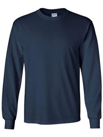 Gildan Navy Long Sleeve Shirt