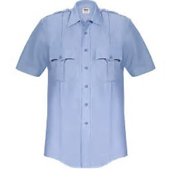 Elbeco Paragon Short Sleeve Uniform Shirt (Blue or White options) with patches