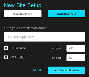Use with existing hosted sites