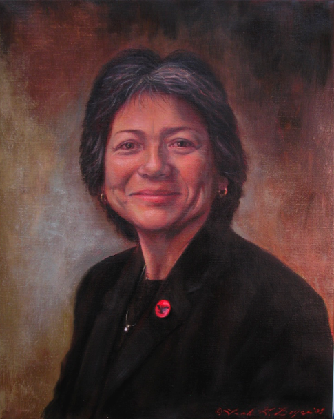 Ms. V, Oil on Linen, Leah Griffith Boyce