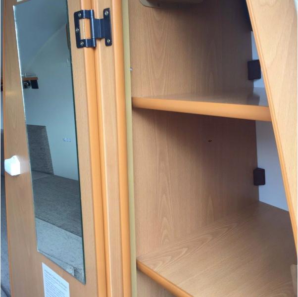 Go-Pod wardrobe - open