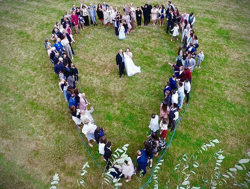 Wedding Heart Aerial Photography