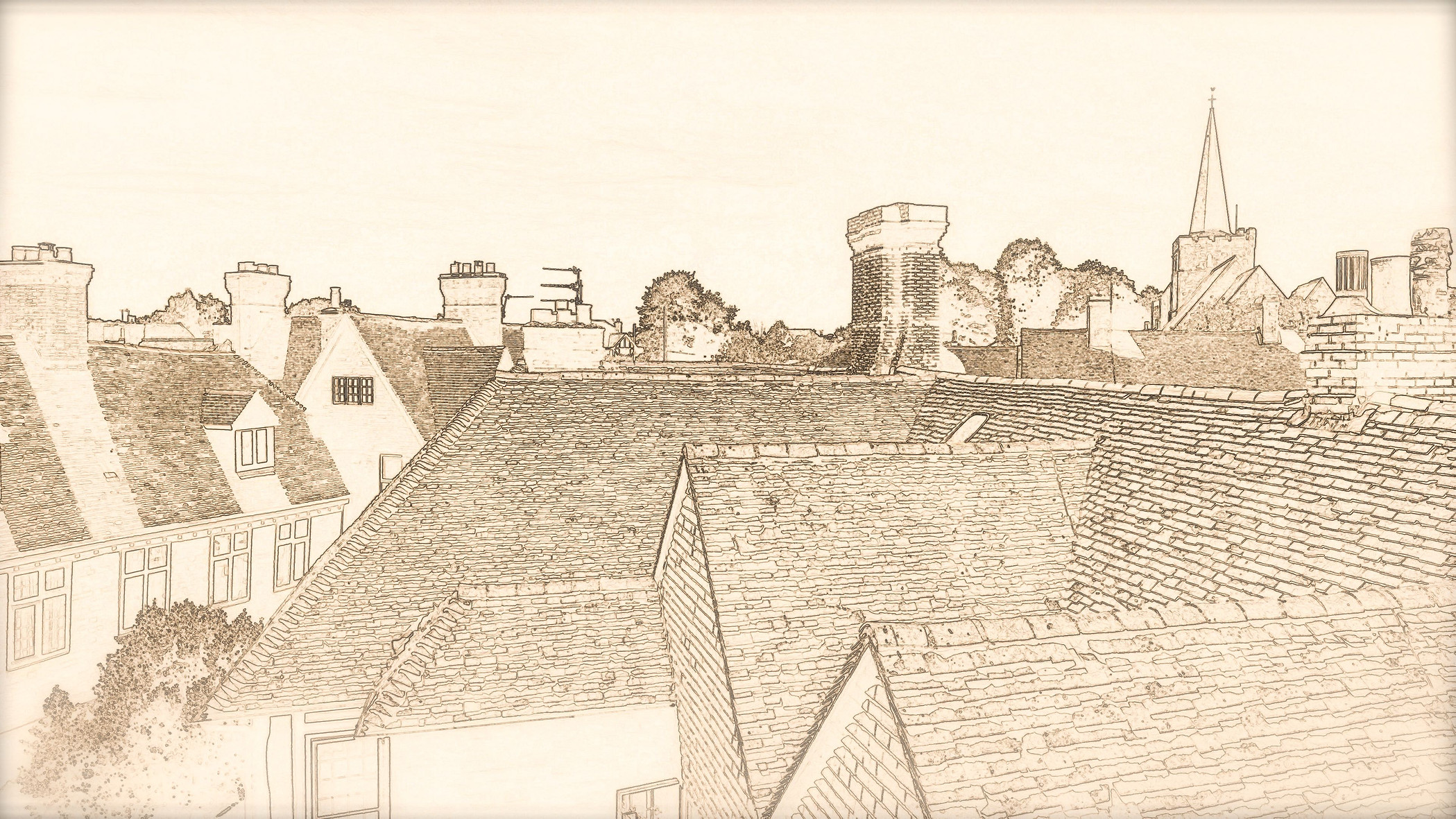 Rotherfield Kings Roof Top Print.jpg
