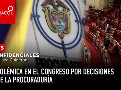 Polémica en el Congreso por decisiones de la Procuraduría