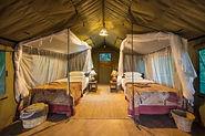 Unterkunft im Flatdog Camp im South Luangwa National Park.