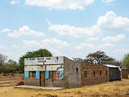 Ein Haus in der Wildnis des Okavango Deltas.