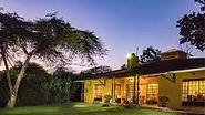 Blick auf das Camp auf Safari Tour.