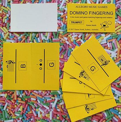 Domino Fingering Trumpet card game (Digital Download)
