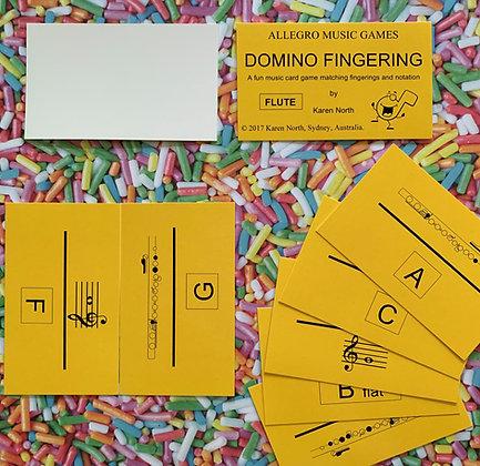 Domino Fingering Flute card game (Digital Download)