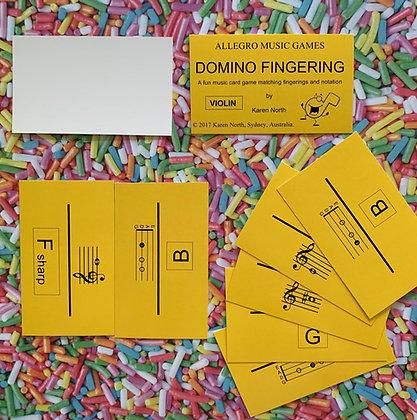 Domino Fingering Violin card game (Digital Download)
