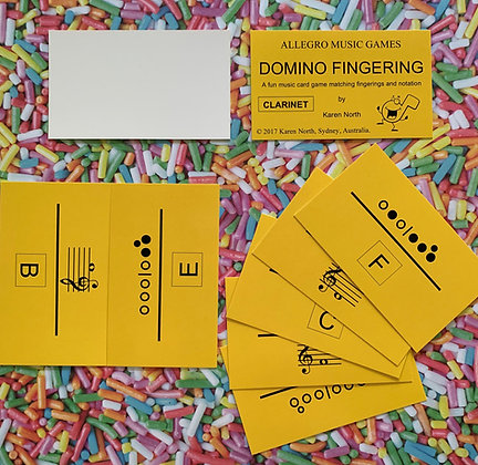 Domino Fingering Clarinet card game (Digital Download)