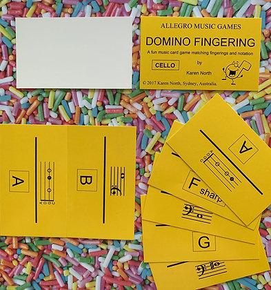 Domino Fingering Cello card game (Digital Download)