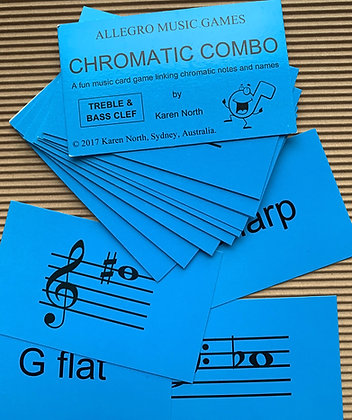Chromatic Combo Treble & Bass card game (Digital Download)