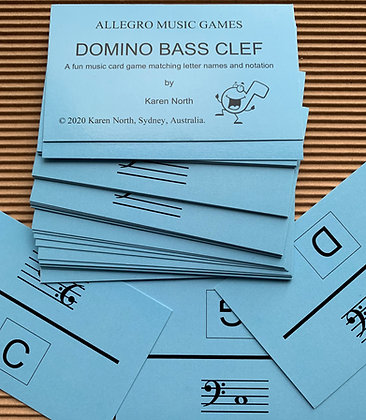 Domino Bass Clef card game (Digital Download)