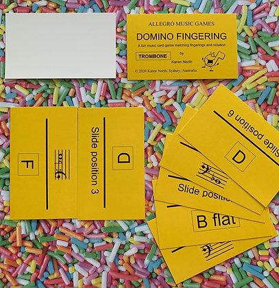 Domino Fingering Trombone card game (Digital Download)