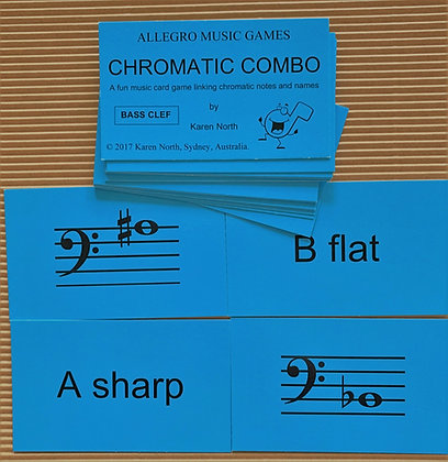Chromatic Combo Bass card game (Digital Download)