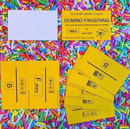 Domino Fingering Viola card game (Digital Download)