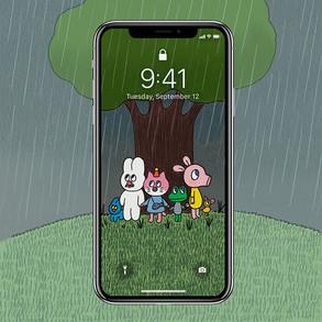 [배경화면] 하루종일 비