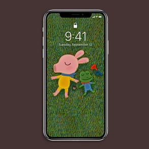 [배경화면] 잔디밭에 누워