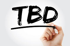 TBD - To Be Defined acronym with marker,