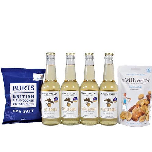 Barries Cider & snacks selection