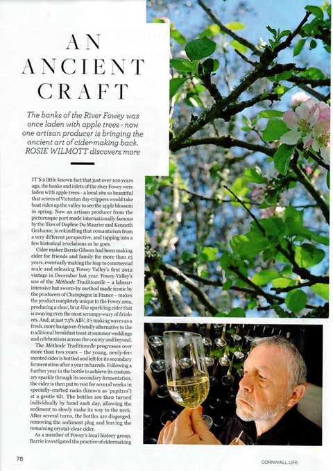 Featured in August Cornwall Life Magazine