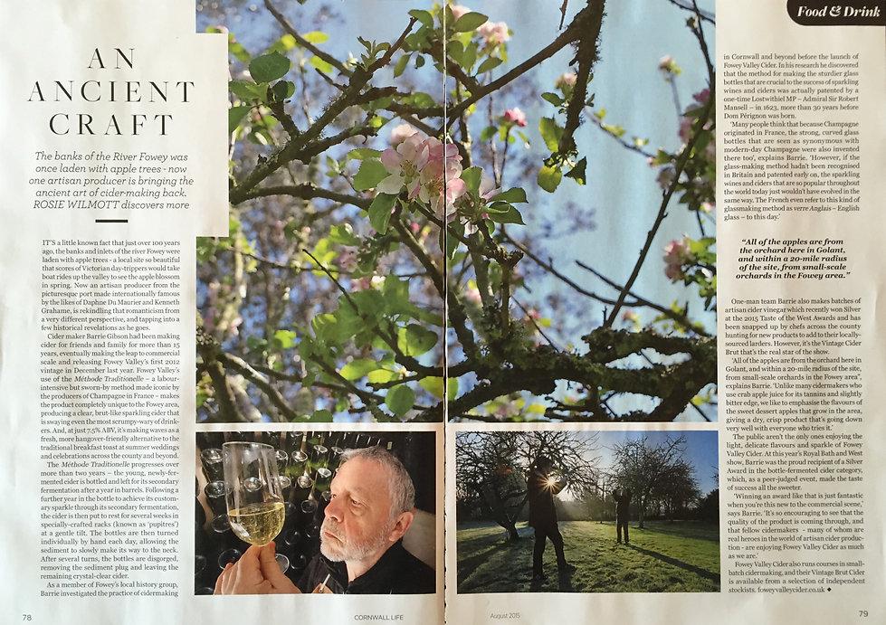 Fowey Valley Cider in Cornwall Life magazine