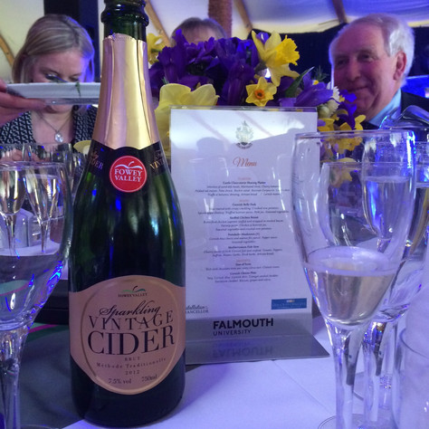 Falmouth University celebrates with Fowey Valley Cider