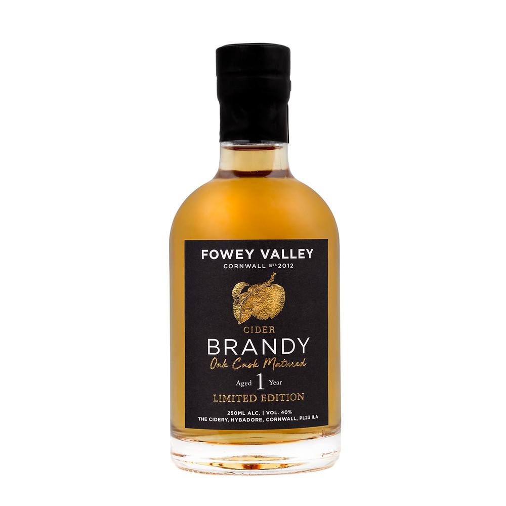 Fowey Valley oak aged cider brandy