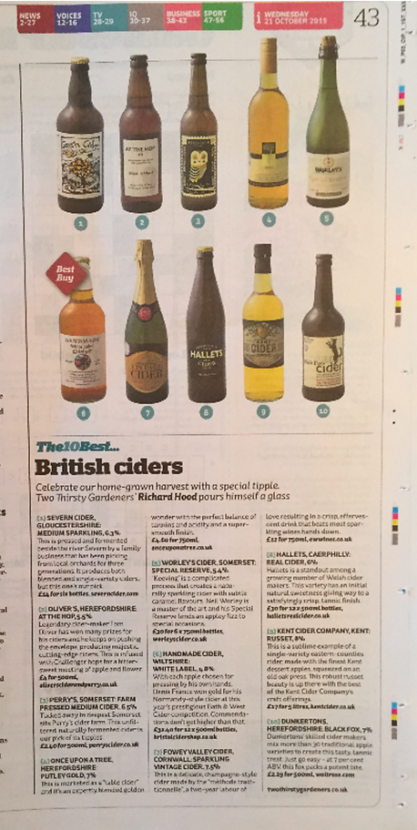 Fowey Valley in the Independent newspaper