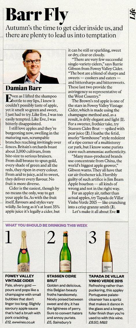 Fowey Vall in Sunday Times magazine