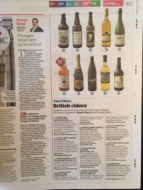 Featured in the Independent - Top ten British ciders!