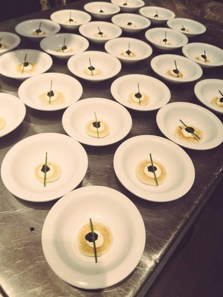 Caviar and blini