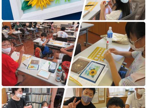 夏休み子供向けペーパークイリング教室を開催しました!