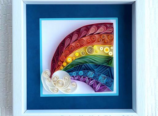 虹をモチーフにして、キットを作ってみました。