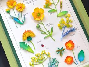 野の花サンプラー<黄> を作ってみました!