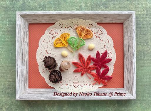 秋のキットは、どんぐり、銀杏、紅葉です。