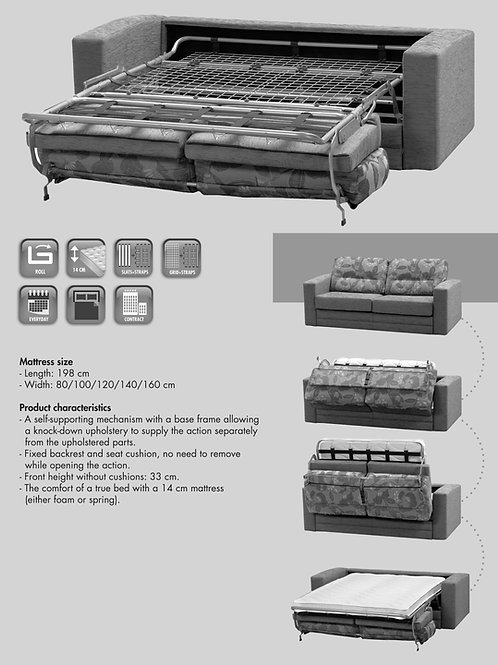 Fold Out Sofa Bed Mechanism - Classic
