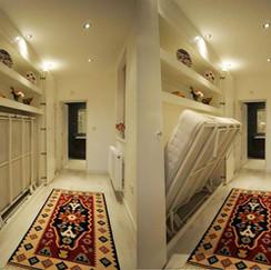 Single Murphy Wall Bed in Corridor