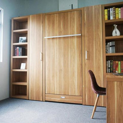 Queen Size Murphy Wall Bed with Side Desk