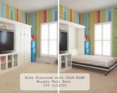 Kids Playroom + Bedroom