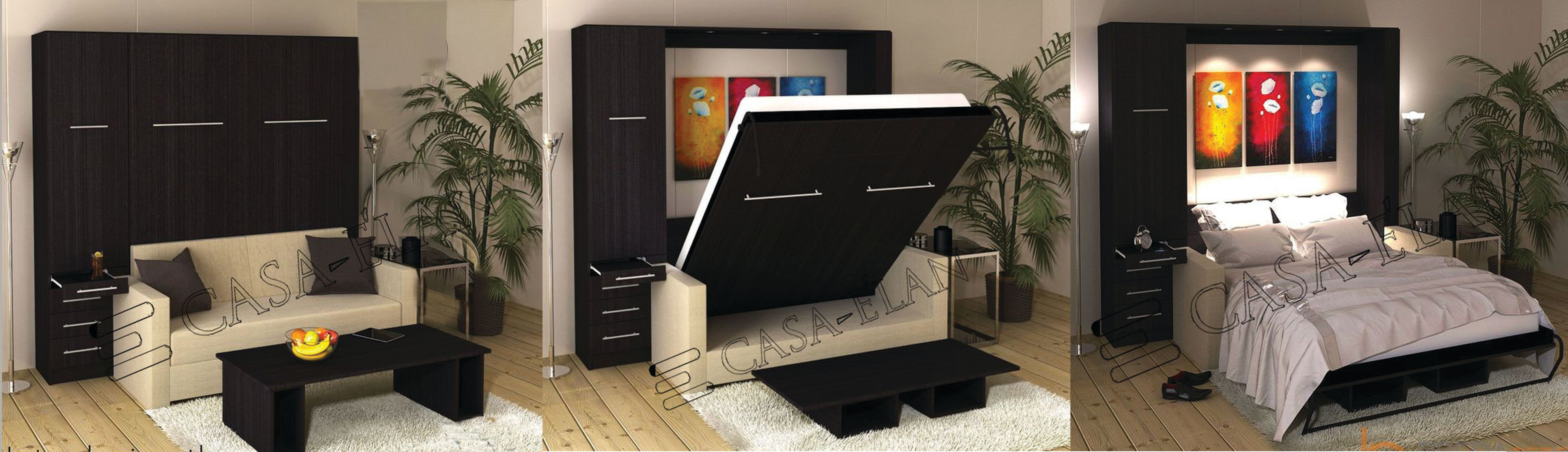 Casa Elan Murphy Folding Wall Bed Models دبي