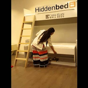 Kids Bedroom Study Desk Folding Bunk Bed