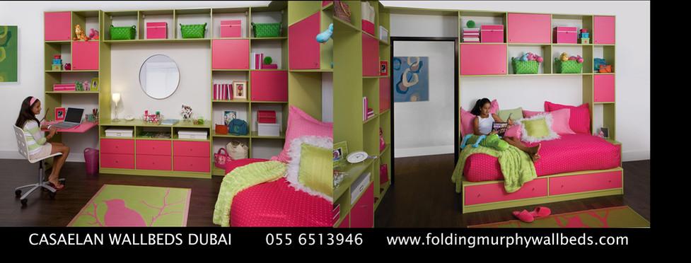 Girls Bedroom Design Murphy Wall Folding Bed