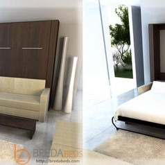 Queen Size Murphy Wall Bed with Sofa
