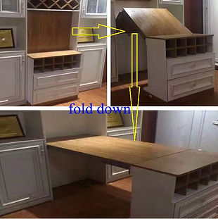 FOLDING SPACE SAVING KICHEN CABINET ISLAND BAR HARDWARE FITTINGS