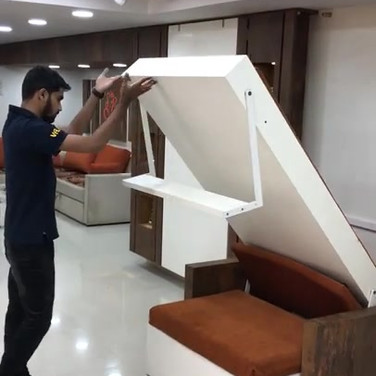 Murphy Wall Bed with Automatic Sofa Opening System