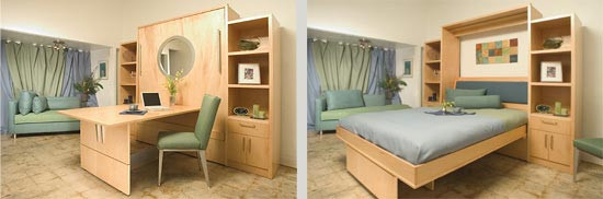Studio Apartment Murphy Folding Wall Bed with Sofa