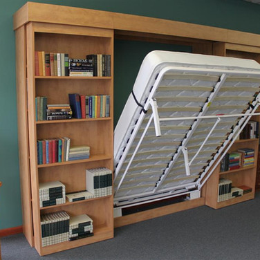 Library Murphy Folding Wall Bed